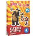 Маша и Медведь: Лето. Пазл-контур 4 в 1, 11 элементов