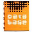 Полиграфика Тетрадь Database 96 листов в клетку цвет оранжевый черный
