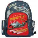 """Рюкзак школьный Kinderline """"Planes"""", цвет: серый, красный"""