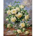 "Живопись на холсте ""Белые розы"", 40 х 50 см"