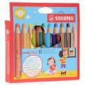 Stabilo Woody Набор цветных карандашей 3-в-1 10 цветов