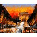 """Набор для рисования по номерам Цветной """"Триумфальная арка"""", 40 x 50 см"""