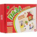 Развивающие деревянные игрушки Пазл для малышей Теремок 4 в 1