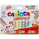 """Набор для рисования """"Carioca (Кариока) Stamp Markers"""", 12 цветов"""
