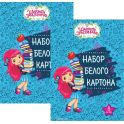 Action! Набор белого мелованного картона Strawberry Shortcake 8 листов 2 шт цвет синий