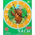 Умная бумага Сборная пазл-игрушка Часы Маша и медведь с часовым механизмом