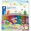 Staedtler Набор цветных карандашей Noris Colour Wopex 24 цвета