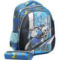 Рюкзак детский Мото цвет синий 2820268