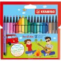 STABILO Набор фломастеров Pen 68 Mini 18 цветов