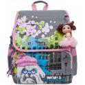 Grizzly Рюкзак школьный цвет серый розовый RA-877-1/2