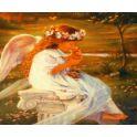 """Картина по номерам Рыжий кот """"Ангелочек и котенок"""", ST043, 71 х 40 см"""
