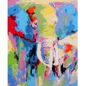 """Картина по номерам Школа талантов """"Слоны разноцветные"""", 2452192, 30 х 40 см"""