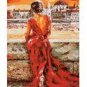"""Картина по номерам Школа талантов """"Женщина в красном"""", 2461688, 30 х 40 см"""