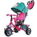 """BARBIE HB7TS Велосипед-коляска Barbie, колеса 10""""и 8"""",с руч.управ.,наклонная спинка ,бирюзовый"""