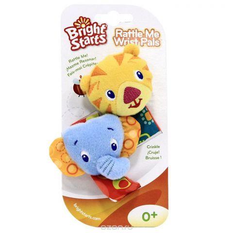 """Мягкая игрушка-погремушка на руку """"Bright Starts"""", 2 шт. 8531"""