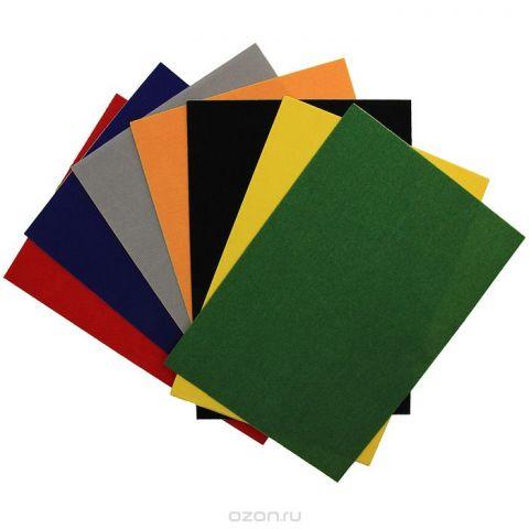 """Цветная бархатная бумага """"Fancy"""", 7 цветов. FD010024"""