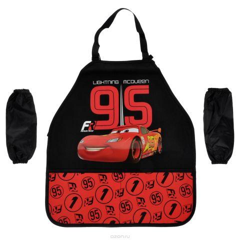"""Фартук для детского творчества """"Cars"""", цвет: красный, черный"""