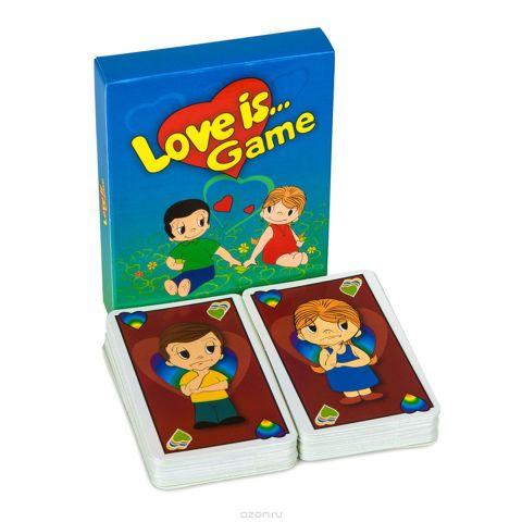 """Карточная игра """"Уно Love is..."""", с инструкцией, 96 карточек"""