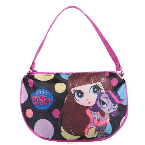 """Сумочка детская """"Littlest Pet Shop"""", цвет: черный, розовый. LPCB-UT3-4017"""
