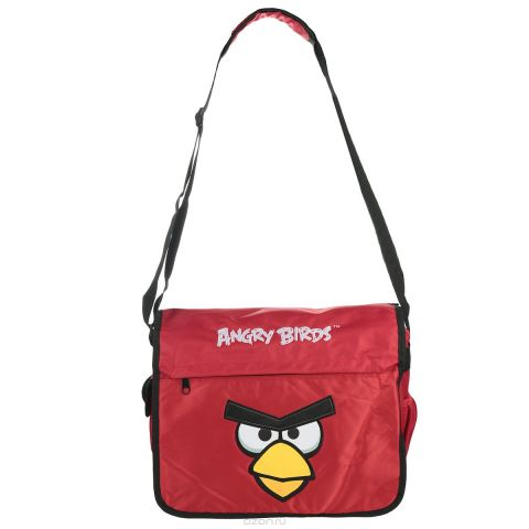"Сумка школьная Hatber ""Angry Birds"", цвет: красный, черный, желтый. NSn_00203"