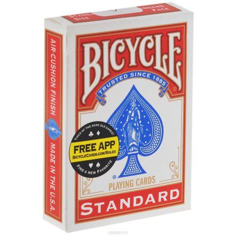 """Карты для фокусов Bicycle """"Svengali"""", цвет: красный, белый, 52 шт"""