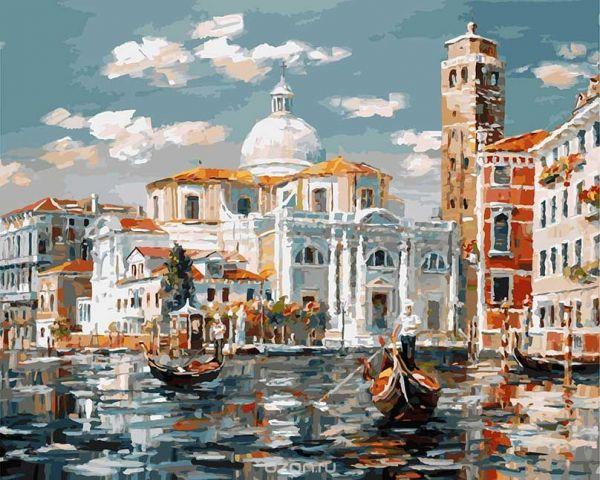 """Живопись на холсте """"Венеция. Церковь Сан Джеремия"""", 40 х 50 см"""