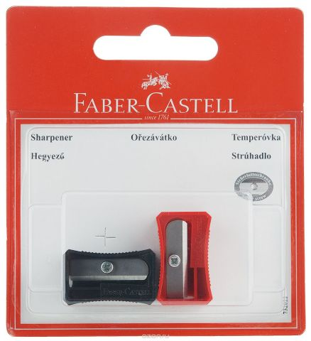 Faber-Castell Точилка цвет черный красный 2 шт