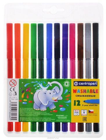 Centropen Набор цветных смываемых фломастеров 12 шт