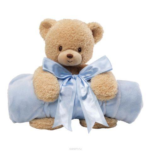 Gund Мягкая игрушка Мишка с полотенцем цвет голубой