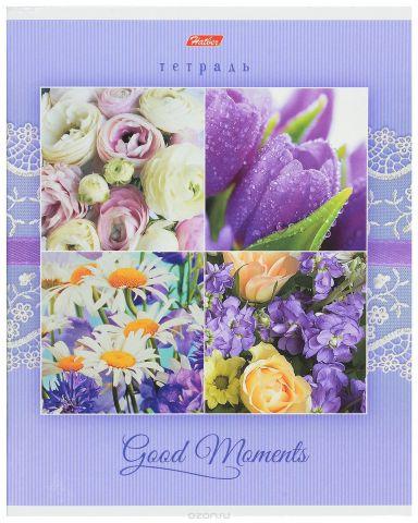 Hatber Тетрадь Good Moments 80 листов в клетку цвет фиолетовый светло-синий
