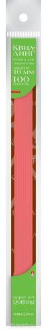 Альт Бумага для квиллинга 10 мм 100 полос цвет красный