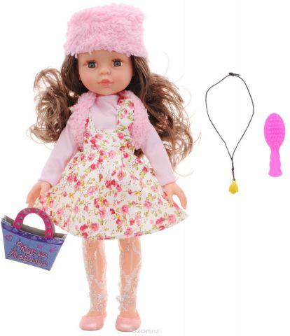ABtoys Кукла Модница цвет платья розовый белый