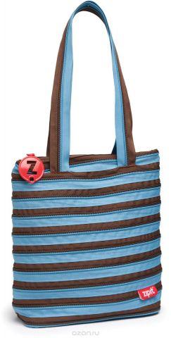 Zipit Сумка Premium Tote Beach Bag цвет голубой коричневый