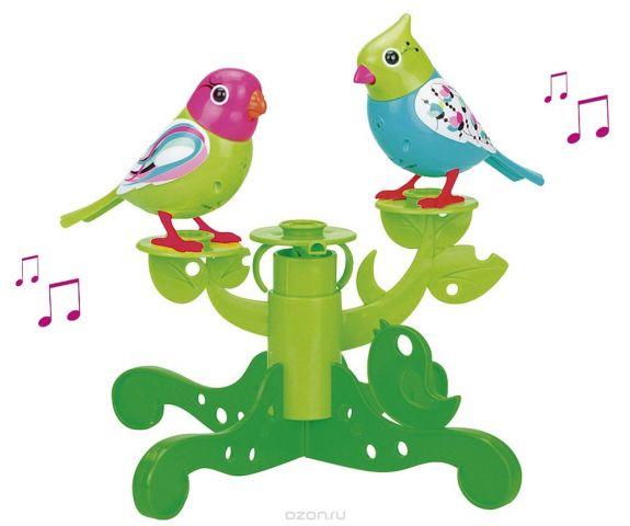 DigiFriends Интерактивная игрушка Птички на дереве цвет бирюзовый салатовый