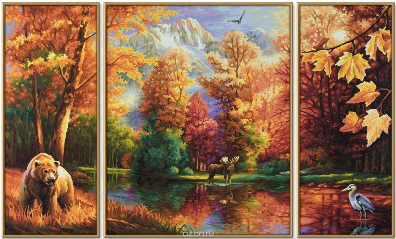 Schipper Картина по номерам Триптих Осень