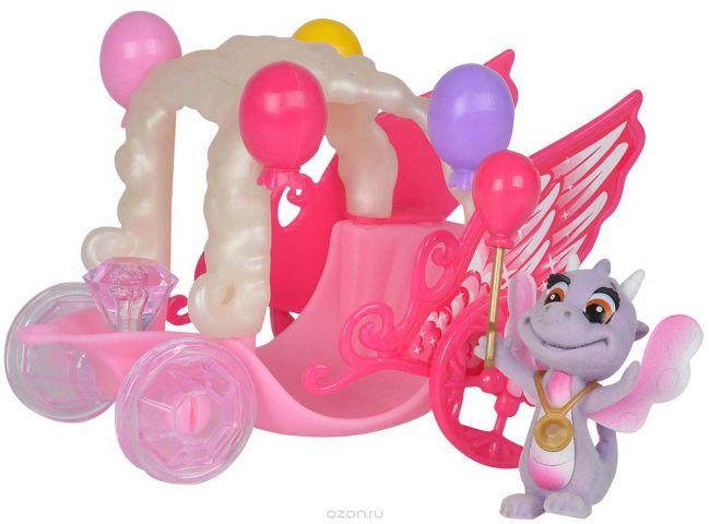 Simba Игровой набор Карета дракончиков Safiras цвет розовый сиреневый