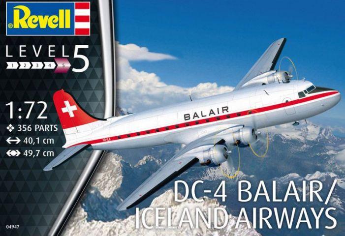 Revell Сборная модель Пассажирский самолет DC-4 авиакомпании Balair