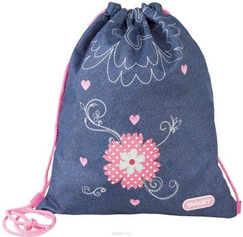 Target Collection Сумка для детской сменной обуви Джинсовые цветы 17956