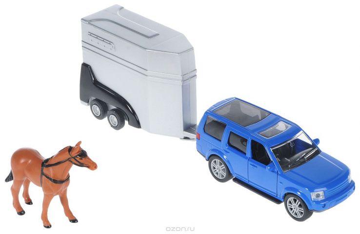 HTI Джип с прицепом для лошади цвет синий