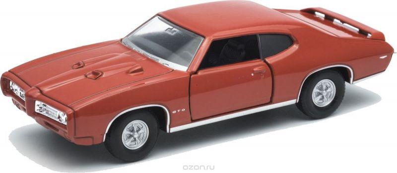 Welly Модель автомобиля Pontiac GTO цвет красный