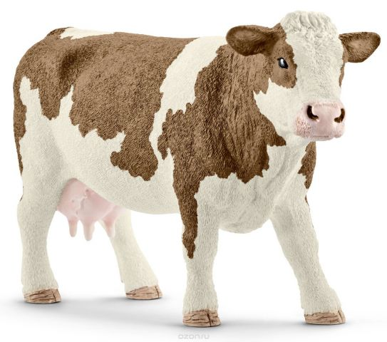 Schleich Фигурка Симментальская корова 13801
