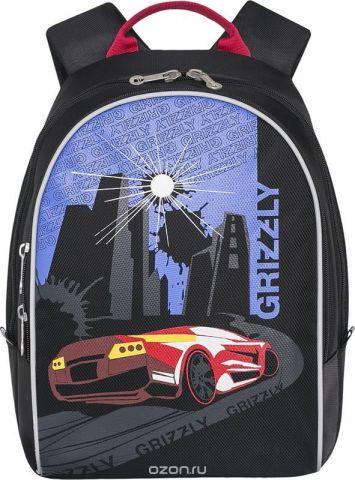 Grizzly Рюкзак дошкольный цвет красный RS-734-1/1