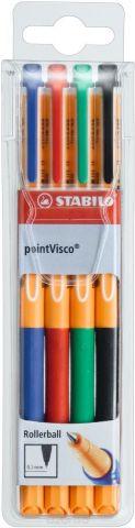 Stabilo Набор гелевых ручек Point Visco 4 цвета