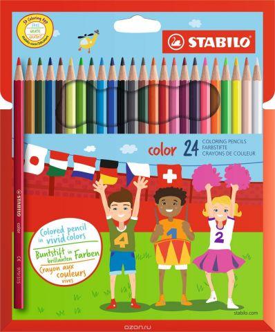 Stabilo Набор цветных карандашей Color 24 цвета