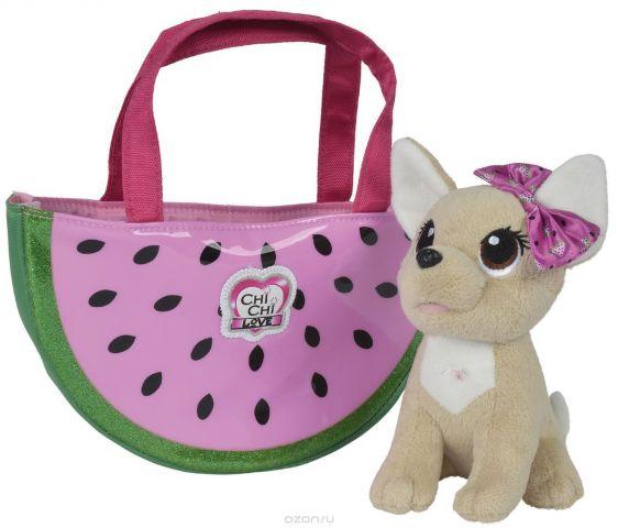 Simba Мягкая игрушка Собачка Фруктовая мода с сумочкой 18 см