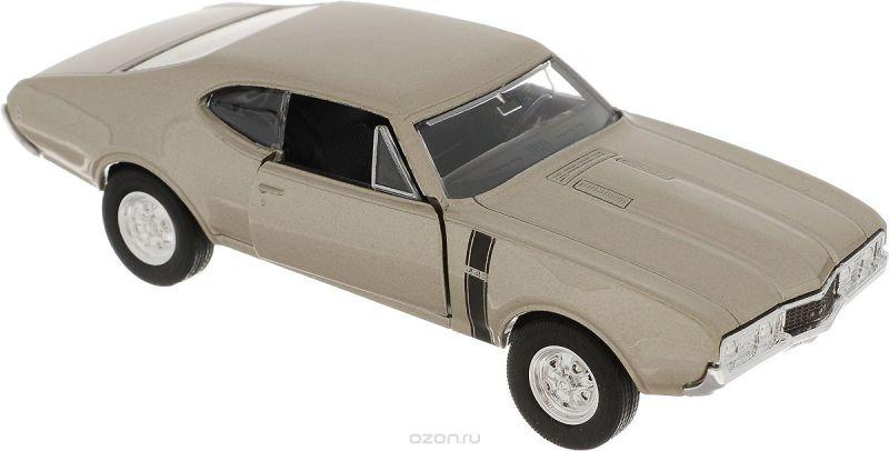Welly Модель автомобиля Oldsmobile 442 1968 цвет бежевый