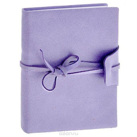 Brunnen Тетрадь Бижу на завязках 160 листов формат А6 цвет сиреневый