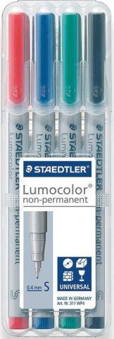 Staedtler Набор неперманентных маркеров Lumocolor 311 4 цвета
