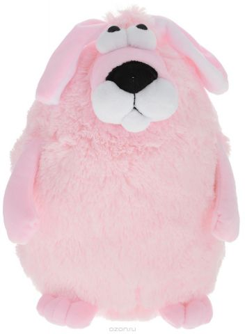 Button Blue Мягкая игрушка Собачка Кругляш цвет розовый 27 см