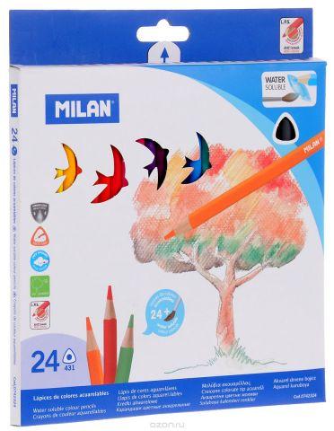 Milan Набор акварельных карандашей 431 24 цвета